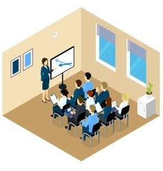Isometric Training Composition vector image