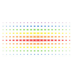 japanese rising sun spectrum halftone pattern vector image