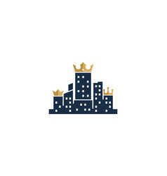 king town logo icon design vector image