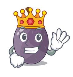 King velvet tamarind fruit isolated on mascot vector