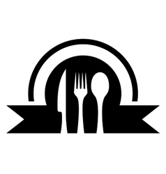 kitchen icon with utensil vector image
