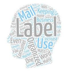Labels text background wordcloud concept vector