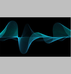line soundwave abstract background vector image