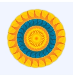 Logo sun and sea vector image