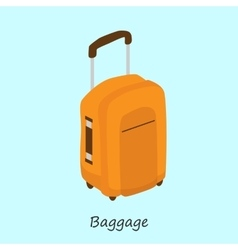 luggage for things when traveling vector image