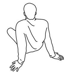 Man sitting down on ground vector