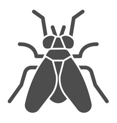 Midge solid icon insects concept fly sign on vector