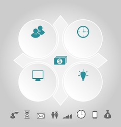 Modern design circles with info graphic icons vector image
