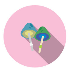 mushrooms circle flat icon vector image