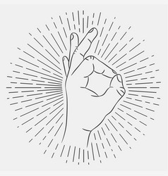 ok hand sign okay gesture vector image