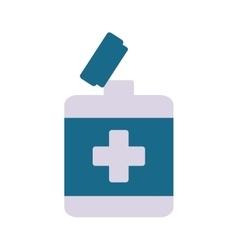 open bottle medical object pharmacy vector image