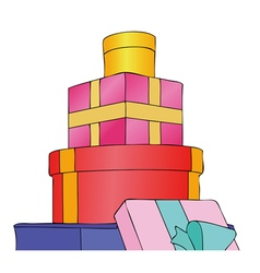 Parcels Gifts and Presents vector image