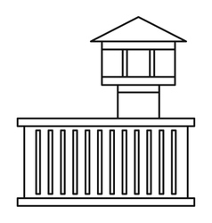 Prison tower icon outline style vector
