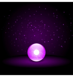Purple crystal ball vector