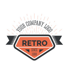 retro company vintage style logo template in vector image