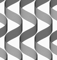 Ribbons making waves pattern vector