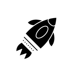 rocket launch simple icon vector image