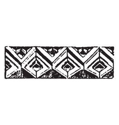 Romanesque motive gothic fabric vintage engraving vector