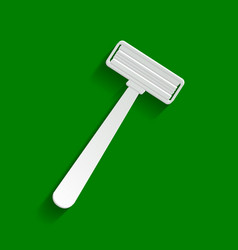 Safety razor sign paper whitish icon with vector