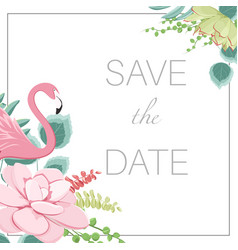 save the date wedding marriage event invitation vector image