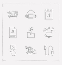 Set of melody icons line style symbols with vector