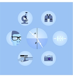 Set of optics icons vector