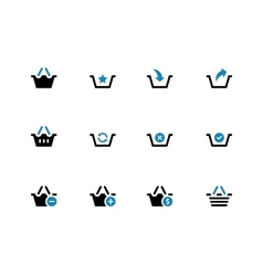 Shopping Basket duotone icons on white background vector