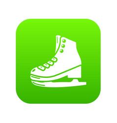 skates icon simple black style vector image