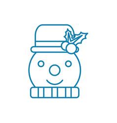 Snowman linear icon concept snowman line vector