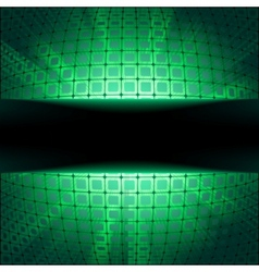 Sphere with green illumination vector