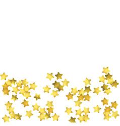 Star confetti gold random confetti background vector