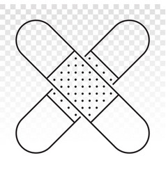 Sticking plaster bandage line art icon for app vector