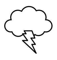 storm cloud thunderbolt weather design icon thick vector image
