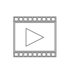 Strip film play movie cinema symbol vector
