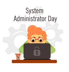 System administrator appreciation day vector