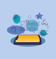 tablet computer gadget social media vector image
