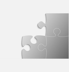 three grey piece puzzle jigsaw vector image