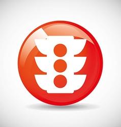 Traffic icon vector