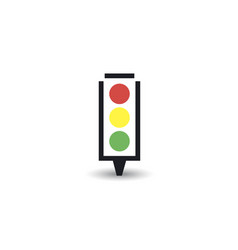 traffic light icon eps 10 vector image
