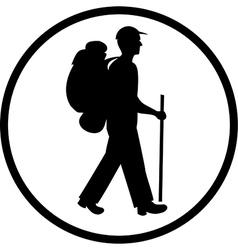 Traveller icon vector