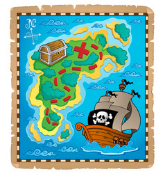 Treasure map theme image 2 vector