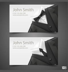 triangle jacket card vector image vector image