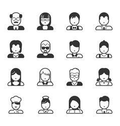 User Icons and People Icons eps10 format vector image