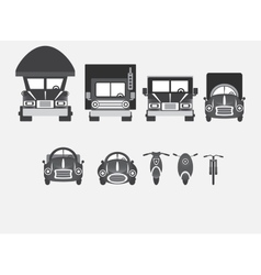 Vehicles of various types vector image