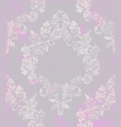 vintage damask flourish ornamented pattern vector image