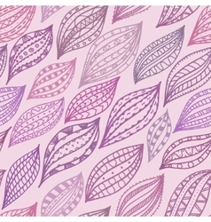 Violet seamless pattern with stylized petals and vector image