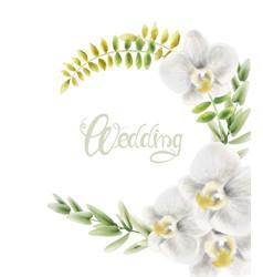 Watercolor flowers bouquet vector