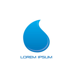 waterdrop water sign logo vector image