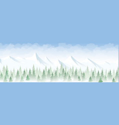 Winter landscape in the mountains vector