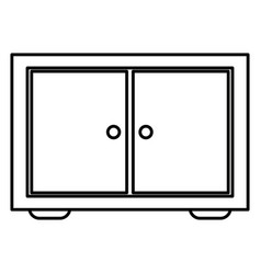 wooden drawer isolated icon vector image